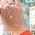 Pulseira de Mão Estrela Cravejada Folheado Ouro Amarelo 18k - Imagem 2