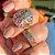 Anel Mosaico Nano Rainbow Folheado Ouro Amarelo 18K - Imagem 4