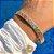 Bracelete Mosaico Nano Colors Folheado Ouro Amarelo 18k - Imagem 2