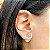 Brinco Ear Jacket Mandala Nano Colors Fecho Pérola Folheado Ouro Amarelo 18k - Imagem 2