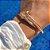 Bracelete Prego Liso Folheado Ouro Amarelo 18k - Imagem 2