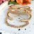 Bracelete Prego Liso Folheado Ouro Amarelo 18k - Imagem 3