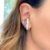 Brinco Ear Hook Pérolas Colors de Encaixe Folheado Ródio - Imagem 1