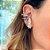 Brinco Ear Hook Pérolas Colors de Encaixe Folheado Ródio - Imagem 2