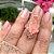 Anel Navete Morganita Fusion Mosaico Rainbow Folheado Ouro Rosé - Imagem 5