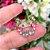Brinco Ear Cuff Cristais Peridoto Topazio Turmalina Folheado Ouro Rosé 18k - Imagem 3