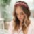 Tiara Cetim Flores Cristal Pink - Imagem 2