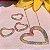 Colar Coração Cravejado Rainbow Folheado Ouro Amarelo 18k - Imagem 2
