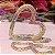 Colar Coração Cravejado Rainbow Folheado Ouro Amarelo 18k - Imagem 3