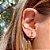 Brinco Ear Hook Palito Rainbow Folheado Ouro Amarelo 18k - Imagem 2