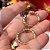 Brinco Lua Nano Rainbow Folheado Ouro Amarelo 18k - Imagem 3