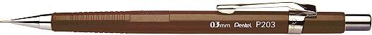 Lapiseira Pentel 0.3 Sharp P203 Marrom - Imagem 1