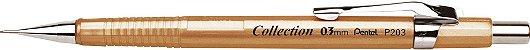 Lapiseira Pentel 0.3 Sharp P203 Dourada - Imagem 1