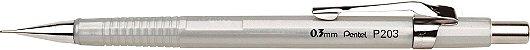 Lapiseira Pentel 0.3 Sharp P203 Prata - Imagem 1