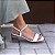Sandália Fargo Salto Médio em Acrílico Pink - Imagem 2