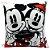 Almofada Fibra Veludo 25x25 Mickey e Minnie - Imagem 1