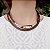 Colar marrom maxicolar folheado a ouro 18K hipoalergênico - Imagem 1