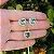 Conjunto coração cristal verde zircônias cravejadas colar e brincos folheado a ouro 18K hipoalergênico - Imagem 1