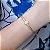 Pulseira de couro feminina cristal rosa e zircônias cravejadas fio nude   folheada a ouro 18K hipoalergênico - Imagem 1