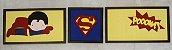 Quadro Conjunto Super Homem - Imagem 1