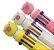 Caneta 10 cores Porquinho - Imagem 1