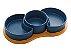 Petisqueiras Porcelana Azul Matt com Bandeja Bambu  - Imagem 1