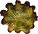 Bowl folha vitória régia P vinho c/ verde  - Imagem 1
