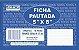 """FICHA PAUTADA 5"""" x 8"""" SÃO DOMINGOS - Imagem 1"""