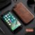 Capa Para iPhone 8 Plus de Couro Marrom Ref.107 - Imagem 1