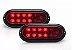 Par de Lanterna De Led Para Carretinha Vermelha - Imagem 1