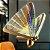 Pendente Borboleta Colorida com led integrado - 20x20cm - Imagem 2