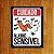 Placa Decorativa Alarme Sensível - Um Sábado Qualquer - Imagem 1