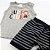 Roupa de Bebê Menino Conjunto Animais Regata Camiseta Mescla - Imagem 3