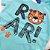 Roupa de Bebê Menino Conjunto Camiseta Azul Tigre e Bermuda  - Imagem 2
