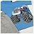 Conjunto Roupa de Bebê Infantil Calor Camiseta Bermuda Azul Carro - Imagem 3