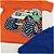 Conjunto Roupa de Bebê Infantil Calor Camiseta Bermuda Laranja Carro - Imagem 2