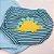 Conjunto Roupa de Bebê Menino Body Manga Curta  Dino Azul Claro Calor - Imagem 4