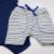 Conjunto Roupa de Bebê Calor Body Manga Curta Bermuda Saruel Azul Escuro - Imagem 2
