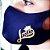 Máscara de proteção Higiênica reutilizável |Azul Jesus Coroa Dourada| - Imagem 1
