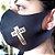 Máscara de proteção Higiênica reutilizável |Cruz Jesus Dourado| - Imagem 1