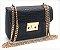 Bolsa Pequena Preta com detalhes em dourado - Imagem 1