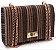 Bolsa de tecido Pequena Caramelo, marrom e dourado - Imagem 1