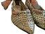 Sapatilha de Palha Dourada Tramada Lais - Imagem 4