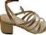 Sandália Salto Médio de Tiras Dourada Brenda - Imagem 4