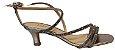 Sandália com Tiras de Brilho Prata Velho Carmen - Imagem 1