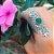 Anel Arabesco Indiano Prata 925 e Pedra Ágata Verde ou Quartzo Rosa - Imagem 3
