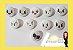 Botões Carinhas Kawaii com 10 unidades - Imagem 1