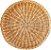Bandeja redonda de fibra natural - Imagem 1