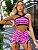 Conjunto emoji rosa short - Imagem 1