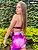 Conjunto brocado tie dye rosa roxo- short  - Imagem 5